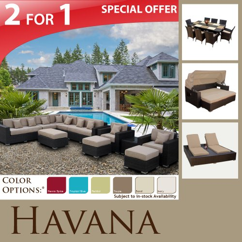 NEW MODERN OUTDOOR PATIO FURNITURE WICKER & SUN BED DINING SET & DOUBLE CHAISE SOFA SECTIONAL ALL WEATHER W/ FREESHIPPING!
