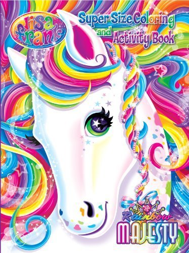 Lisa Frank Super Size Coloring and Activity Book-Rainbow Majesty
