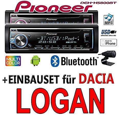 Dacia logan pioneer dEH-x5800BT-cD/mP3/uSB avec kit de montage