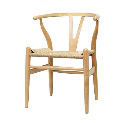 Metro Shop Wood Chair with Hemp Seat