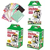 Christmas offer - Fujifilm Instax Mini Twin Pack 50 Sheets Instant Film + Free 60PCS Photo Sticker for Fuji Mini 90 8 70 7s 25 50s 300 Camera SP-1 Printer