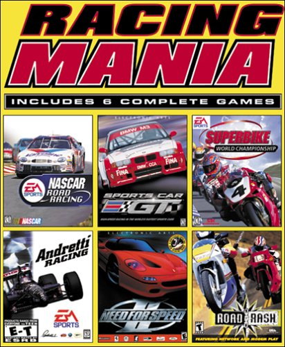 Racing Mania (Need For Speed 2, Road Rash, NASCAR Road Racing, Superbike World Championship, Andretti Racing, Sports Car GT)