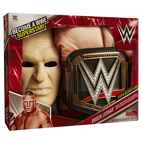 WWE Brock Lesnar Deluxe Muscle Suit with Championship Title Belt (Ufc Toy Belt compare prices)