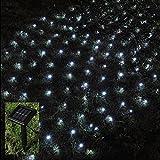 Babz® 105 LED OUTDOOR NET STRING CHRISTMAS FAIRY LIGHTS SOLAR POWERED GARDEN