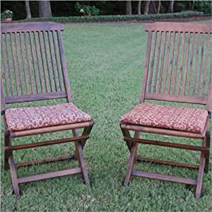 Folding Lawn Chair Patio Cushion Set Of 2 Color Halliwell Car