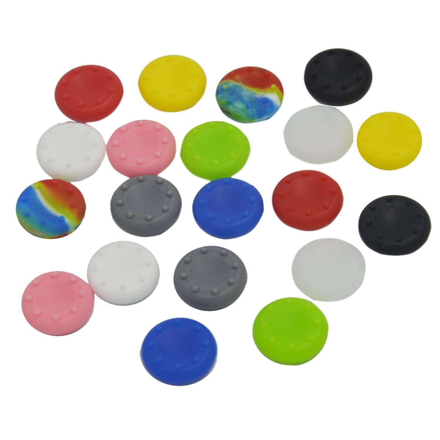 20 x Silicone Analog Controller Thumb Stick Grips Cap Cover For PS3 Xbox 360 Xbox One Game Accessories Replacement Parts 6pcs lot soft thumb grips thumbstick joystick high enhancements cover caps skin fit for sony play station 4 ps4 ps3 xbox 360