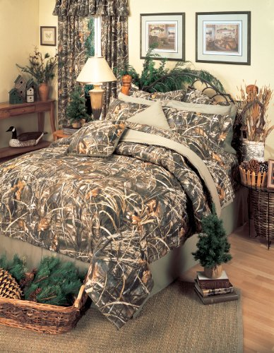 Realtree max 4 camouflage 8 pc king comforter set and for Matching bedroom and bathroom sets