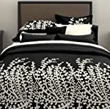 City Scene, Branches Collection, 7-Piece King Comforter Set, Black