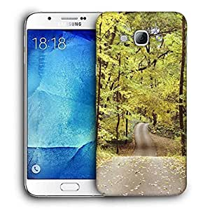 Snoogg Roads In Forest Printed Protective Phone Back Case Cover For Samsung Galaxy Note 5