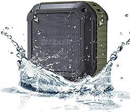 [en plein air & salle de bain] Omaker Résistant à l'eau Splash Enceinte Portable Bluetooth 4.0 avec 12 Heures Playtime Haut-parleur avec Kit Main-Libre - M4 Bluetooth Speaker sans Fil Compatibilité NFC (vert armée)