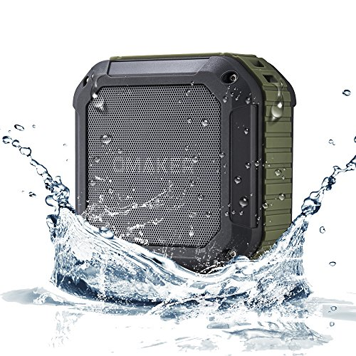 [Best Outdoor&Shower Bluetooth Speaker Ever] Omaker M4 Portable Bluetooth 4.0 Speaker with 12 Hour Playtime for Outdoors/Shower (Army Green)