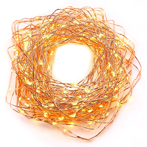 String Lights LED Lights Fairy Lights Xmas lights Outdoor lights -100 Leds, 33 feet Copper Wire, Warm White Outdoor Decor Lighting for Bedroom , Birthday Parties, Wedding and Decorations Water-Proof (Vintage Metal Cooler compare prices)