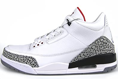 Air Jordan III (3) Retro (White / Fire Red-Cement Grey-