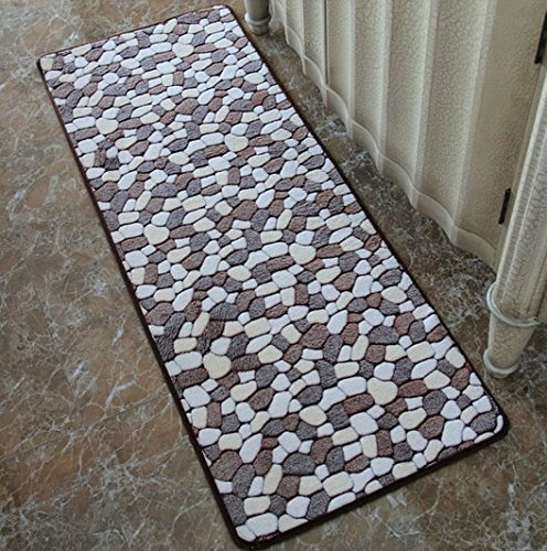 40Cmx120Cm Cobblestone Pattern Rug Rugs Carpets For Living Room Bedroom Sitting Room Hall Study Kitchen Dining Room - Coffee Style back-585919