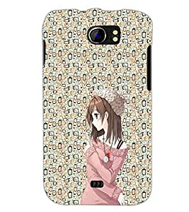 PrintDhaba Cute Girl D-2049 Back Case Cover for MICROMAX A110 CANVAS 2 (Multi-Coloured)