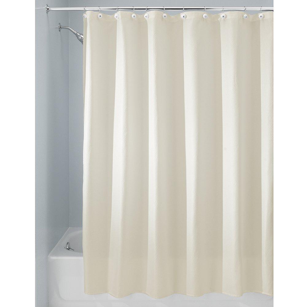 Natural shower curtain - Interdesign 96 Inch Carlton Spa Long Shower Curtain White Amazon In Home Kitchen