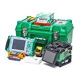 Core Aliginment KomShine GX37 Fiber Welding Machine + QX50-M 850/1300nm 21/19dB incl.VFL +Optic Power Meter OPM+OLS+VFL 1mw 5-8KM (Color: Green, Tamaño: Medium)