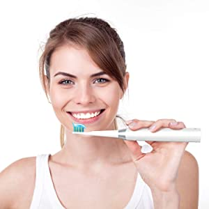 5 Modes Electric Toothbrush Teeth Whitening, Rechargeable Sonic Toothbrushes Last Up to 30 Days Battery Life, White Toothbrush with Timer recommend by Dentists Waterproof by Gloridea (Color: 508 White, Tamaño: 8.94 in Tall, 1.02W*1.02L)