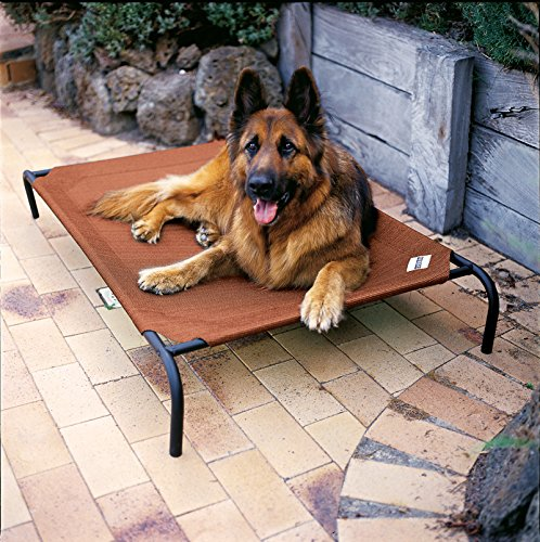 Coolaroo Elevated Pet Bed with Knitted Fabric. Easy assembly
