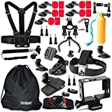 Somate 46 -in-1 Outdoor Sports Essential Accessories Bundle Kit for GoPro HERO 4/3+/3/2/1 SJ4000 SJ5000 SJ6000 Motion Camera