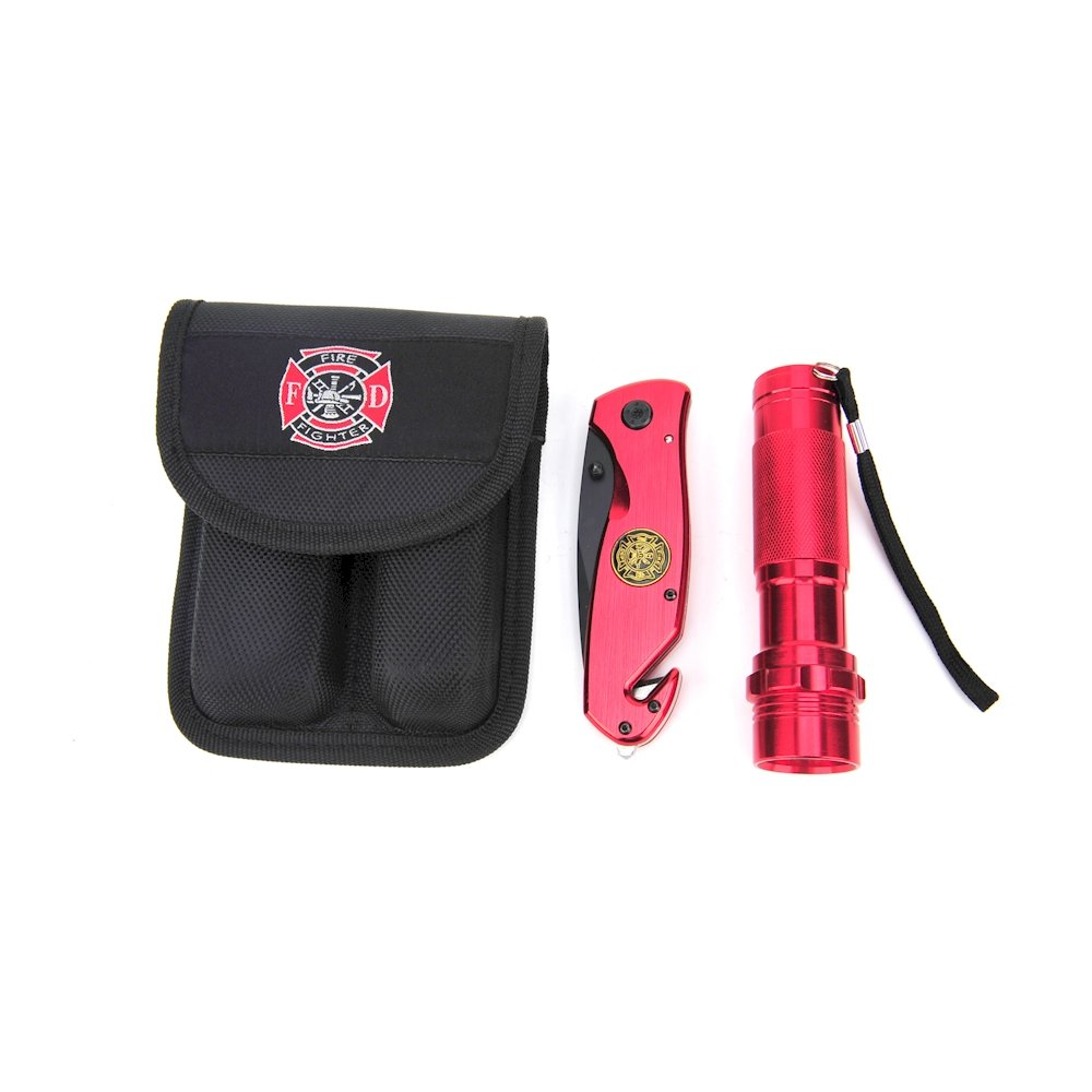 Knife Flashlight Combo Firefighter Knife-flashlight
