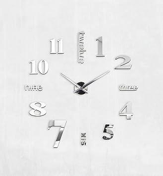 Xxl3d grande horloge horloge murale xxl 130cm - Reloj pegado pared ...