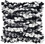 Rizzy Home T-4099 18-Inch by 18-Inch Decorative Pillows, Silver/Black, Set of 2