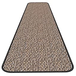 Skid-resistant Carpet Runner - Black Ripple - 4 Ft. X 36 In. - Many Other Sizes to Choose From