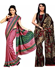 Meher Designer Combo Of 2 Art Silk Sarees (CO005)