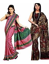 Meher Designer Combo Of 2 Art Silk Sarees (CO005)