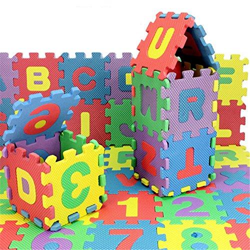 36 pcs EVA Educational Puzzle Foam Mat Interlocking Alphabet & Number - 36 Small Blocks (Kids Car Foam Mat compare prices)