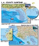 Franko's Maps, Franko's Surf Maps, Surf Maps, Surfing Maps, Los Angeles Surfing, Los Angeles Surf, Surf Spots, Authorized Dealer Full Warranty, Los Angeles County Surfing, Fold-Up