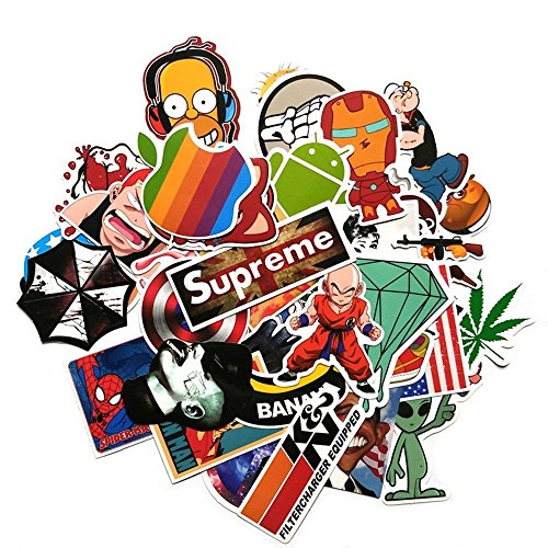 ABOEL-150pcs/pack Cute Stickers Skateboard Vintage Vinyl Sticker Laptop Luggage Car Phone Pad Decals (Pack Of Stickers compare prices)