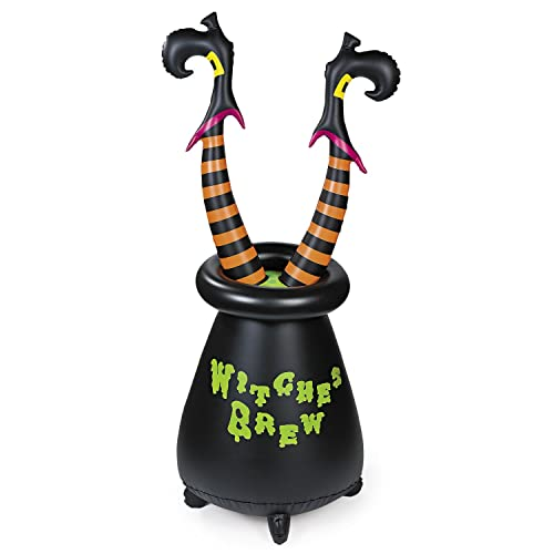 Inflatable Vinyl Witchs Cauldron - Halloween Witches Legs Decoration