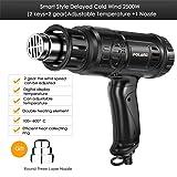 2500W Hot Air Gun Industrial Plastic Welding Torch Wind Rushing Machine Baking Gun Heat Shrinkable Hair Dryer FA Film Gun Smart Style-1 (Color: Smart Style-1)