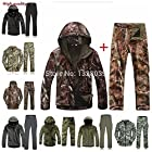 TAD Gear Tactical Softshell Camouflage Outdoors Jacket Set Men Army Sport Waterproof Hunting Clothes Set Military Jacket + Pants