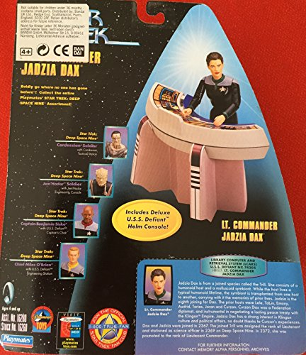 Playmates Star Trek 6 Warp Factor Series 2 Lt. Commander Jadzia Dax with Deluxe U.S.S. Defiant Helm Console - 1