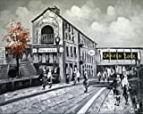 Old London Camden Town Lock and bridge. Large Fine Art oil on canvas painting - Superb quality and craftsmanship