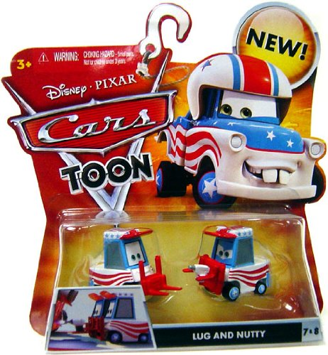 Disney Cars Toon Lug and Nutty Die Cast Cars by Mattel
