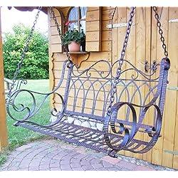 Panca altalena 18688 Panca-altalena metallo ferro battuto con catene Panca-altalena