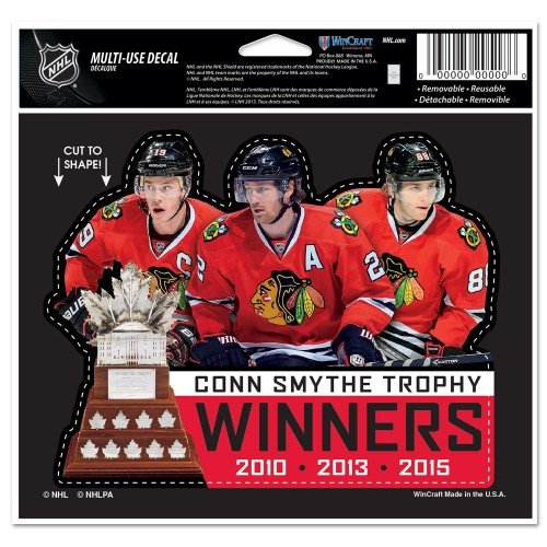 """Chicago Blackhawks 2015 Stanley Cup Champions 4.5"""" x 5.75"""" Decal - Multiple Players"""