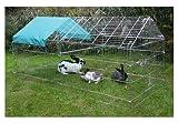 Kerbl Freilaufgehege, verzinkt, mit Sonnenschutz, 220x103x103cm -