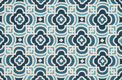 Loloi Rugs FRACFC-46BBTQ2339 Francesca Collection Transitional Area Rug, 2-Feet 3-Inch by 3-Feet 9-Inch, Blue/Turquoise