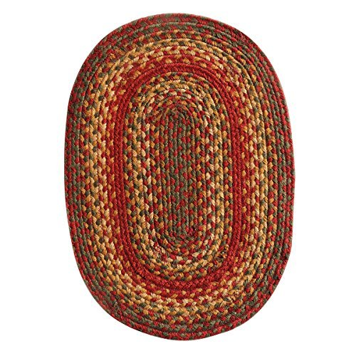 Homespice Oval Placemat Jute Braided Rugs, 13-Inch by 19-Inch, Cider Barn by Homespice