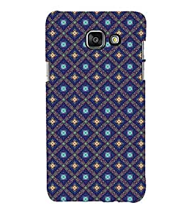 Fuson Premium Back Case Cover Blue pattern With Blue Background Degined For Samsung Galaxy A5(2016)::Samsung Galaxy A5 A510F