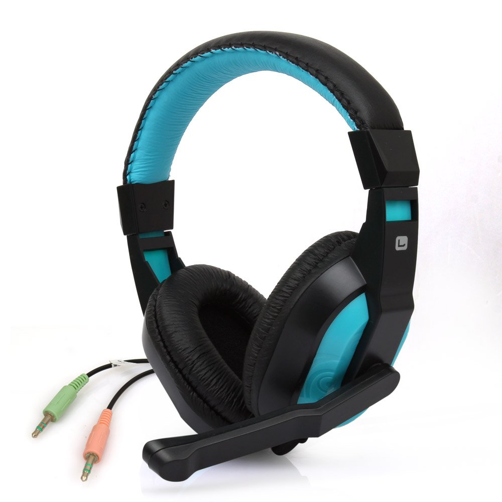 Estone Stereo and High Fidelity Over-ear Gaming Headphone Headset Earphone with Mic for Playing PC Games and Listening Music over 50 brain games