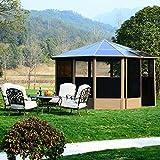 Outsunny-Alu-Gartenhaus-Haus-Gartenpavillon-Pavillon-Partyzelt-Zelt-Garten-4x4m-Dach