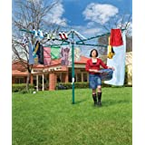 Outdoor Rotary 450 'Large' Hills Hoist Clothesline Forest Glade Green ~ Hills