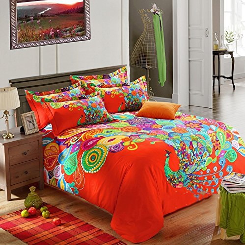 Peacock Feather Design Bedding front-1048951