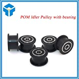 Value-Home-Tools - Delrin smooth Idler Pulley Wheel kits precise CNC for v-slot POM Idler Pulley with bearing for 3D printer